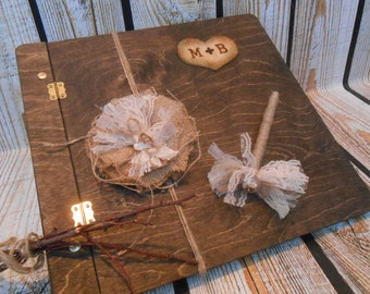 Wedding Guest Book / Wooden Wedding Book / Rustic Wedding Guest Book / Wooden Book / Rustic Wedding Decorations / Wedding Wishes Book