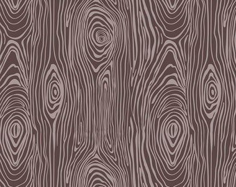 16 x 41 LAMINATED cotton fabric remnant (similar to oilcloth) - Groovin Wood grain EXCLUSIVE - Approved for children's products