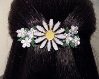 Daisy Flower Barrette