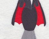 RESERVED for Dayna- 2x patch Vampire Dress Form Embroidered Flour Sack Hand Towel