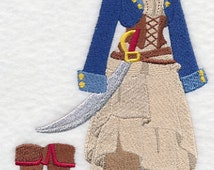 Pirate Dress Form Embroidered Flour Sack Hand/Dish Towel