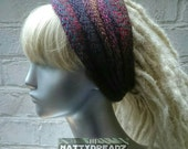 BORA. Dread Tube. Drube. Hair Tube. Dread Band. Hair Band. Single thickness, hand knit.