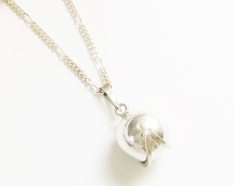 SaLe Vintage Harmony Chime Ball Pendant Sterling Chain Necklace