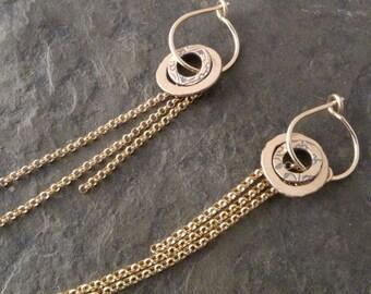 Amrita Earrings ~ with 14k Gold Fringe