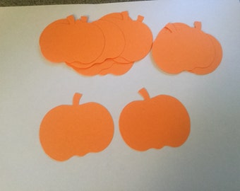 36 orange pumpkin cut outs pumpkin die cuts halloween confetti halloween cut outs halloween decorations fall