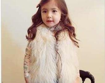 Fashion faux for vest