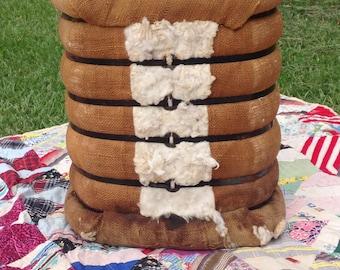 Large sample cotton bale, antique cotton bale, cotton sample