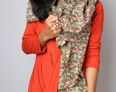 Cotton Scarf / Paisley Scarf / Boho Cotton Satin Scarf : Nature Touch Collection