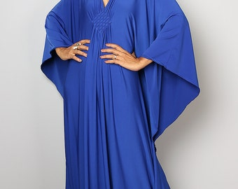 Maxi Dress - Kimono Butterfly Blue Maxi Dress : Funky Elegant Collection No.1s