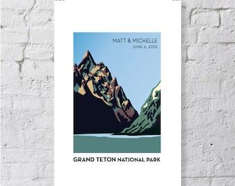 Mountains, Grand Tetons, keepsake / print