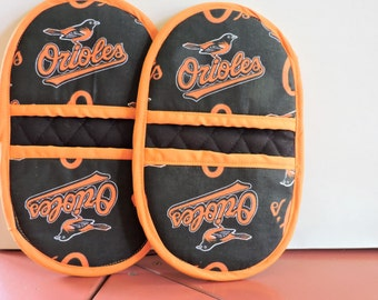 Mini Microwave Mitts-Oven Mitts-Pinchers-Orioles- Free Shipping
