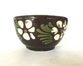 Antique stoneware fruit  bowl