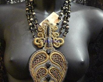 unique necklace embroidered