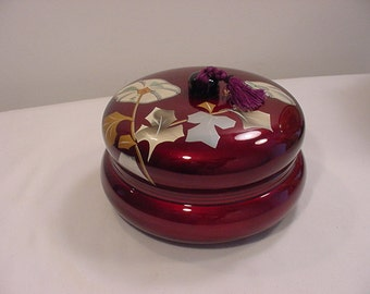 Vintage Wood Lacquered Rice Serving Bowl Never Used    15 - 1016