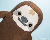 Sloth stuffed animal, Sloth plush toy doll, Cute sloth stuffy toy, Kawaii sloth stuffie, Tree sloth cuddle plushie, Adopt a Sloth, kids room