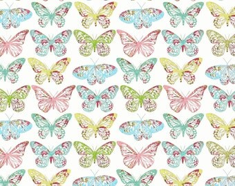 Serenity - Pastel Butterflies from FabScraps
