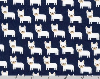 Urban Zoologie Minis - Dogs Navy by Ann Kelle from Robert Kaufman
