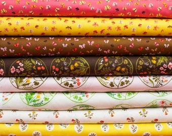 Tiger Lily from Windham Fabrics Bundle - Fat Quarter Bundle - 8 fat quarter pieces (B377)