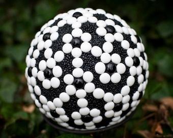 "Mosaic Garden Art Ball.....""Ebony & Ivory"".........OOAK.....***SPRING SALE***"