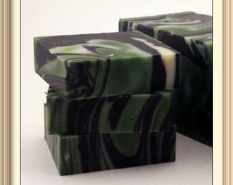 Mountain Air Natural Soap 3 Large Soap Bars Shea Butter Olive oil activated charcoal Aloe Vera