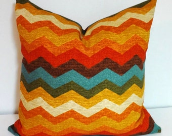 Waverly Santa Maria Panama Wave Adobe Pillow Cover Decorative Chevron Zig Zag Pillow Covers All Sizes