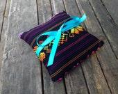Black Tribal Ring Bearer Pillow - Mexican Mini Cushion - Aztec nursery Decor - Wedding Decoration - Home Decor - Bowl Filler