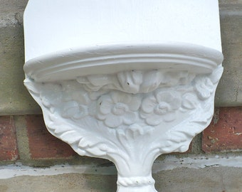 French Country White Ledge Wall Shelf