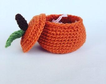 Crochet Pumpkin Bowl - Pumpkin Candy Dish - Crochet Candy Dish - Fall Decor - Pumpkin Decor - Halloween Ideas