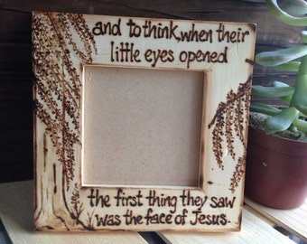 Religious Baby Sonogram Ultrasound Picture Frame Fertility Miscarriage Pregnant Expecting Jesus Loss