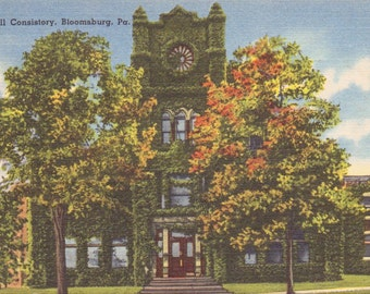 Bloomsburg, Pennsylvania, Coldwell Consistory - Linen Postcard - Unused (X)