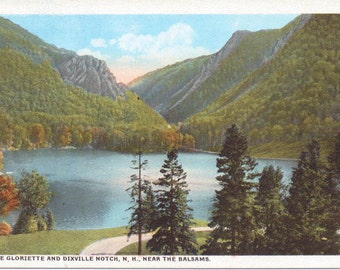 Lake Gloriette, Dixville Notch, The Balsams, New Hampshire - Vintage Postcard - Postcard -  Unused (A10)