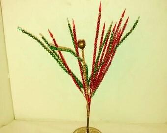 Mercury Glass Picks Ornaments Antique Bead Christmas