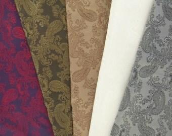 PAISLEY viscose blend jacquard lining fabric