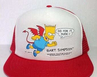 Vintage Bart Simpson snapback hat