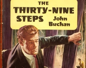 1960s John Buchan vintage book The Thirty - Nine Steps vintage paperback spy thriller