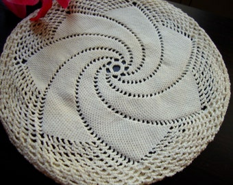 Lid Cover Vintage Hand Crocheted Cover