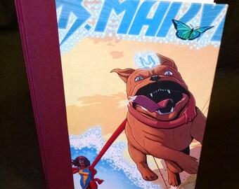 Handmade Ms. Marvel Blank Journal/Sketchbook - M041