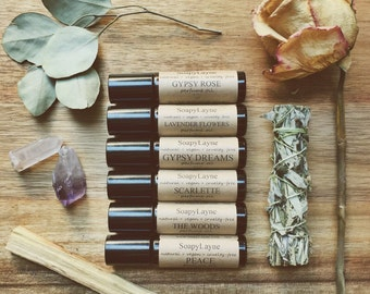 PERFUME OIL, lavender flowers- roll on bottle, vegan