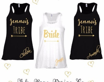 11 Bride Tribe Tank Top Perfect for Bachelorette Parties