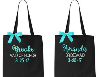 bridesmaid tote bags , bridesmaid gifts , tote bag , beach bag , bachelorette party gift ,wedding bag