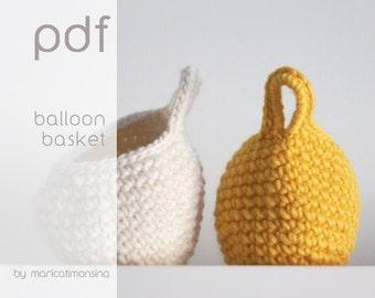 On Sale!! Crochet pattern. PDF Pattern. Diagramme crochet. Patron ganchillo. Häkeln Korb. Häkeln Anleitung. Modello uncinetto