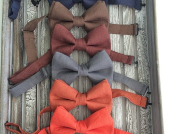 Linen Bow Tie Baby Boy and Toddler Boys Photography Prop Wedding Birthday