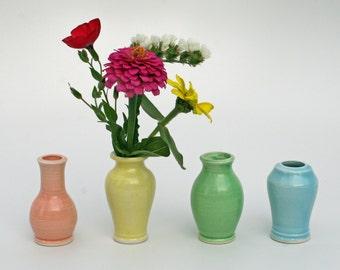 Little Buddies Bud Vases - Pastel Celadon 4 Pack