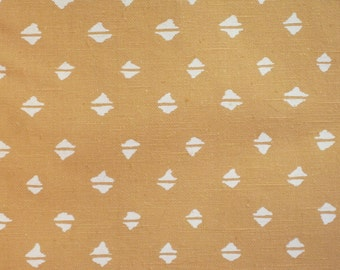 """Vintage Waverly Block Printed Upholstery Fabric Material 59"""" x 130"""" Sandy Coral"""