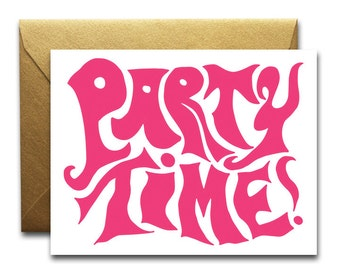 Party Time, Pink Card, SALE