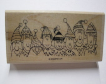 Stampin Up Wood Mounted Rubber Stamp - Santas Elves