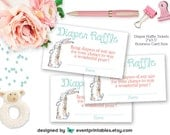 Velveteen Rabbit Diaper Raffle Tickets, Printable Baby Shower Invitation Insert Cards, Shower Game DIGITAL FILE by Event Printables