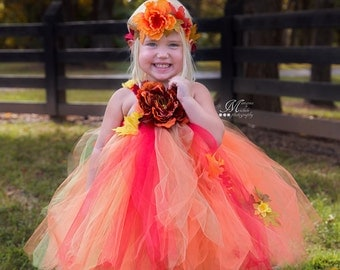 sunflower tutu dress autumn tutu dress thanksgiving tutu. Black Bedroom Furniture Sets. Home Design Ideas