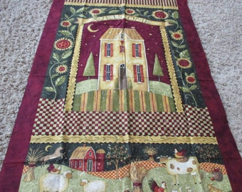 Kansas Song by Susan Winget fall fabric panel pumpkins farm barn last piece