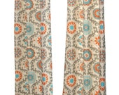 SALE Damask Designer Curtains- Pair of Drapery Panels- Premier Prints Rosa Curtains- 25 or 50W x 63 84 96 108 120 inch Drapes- Mandarin Oran